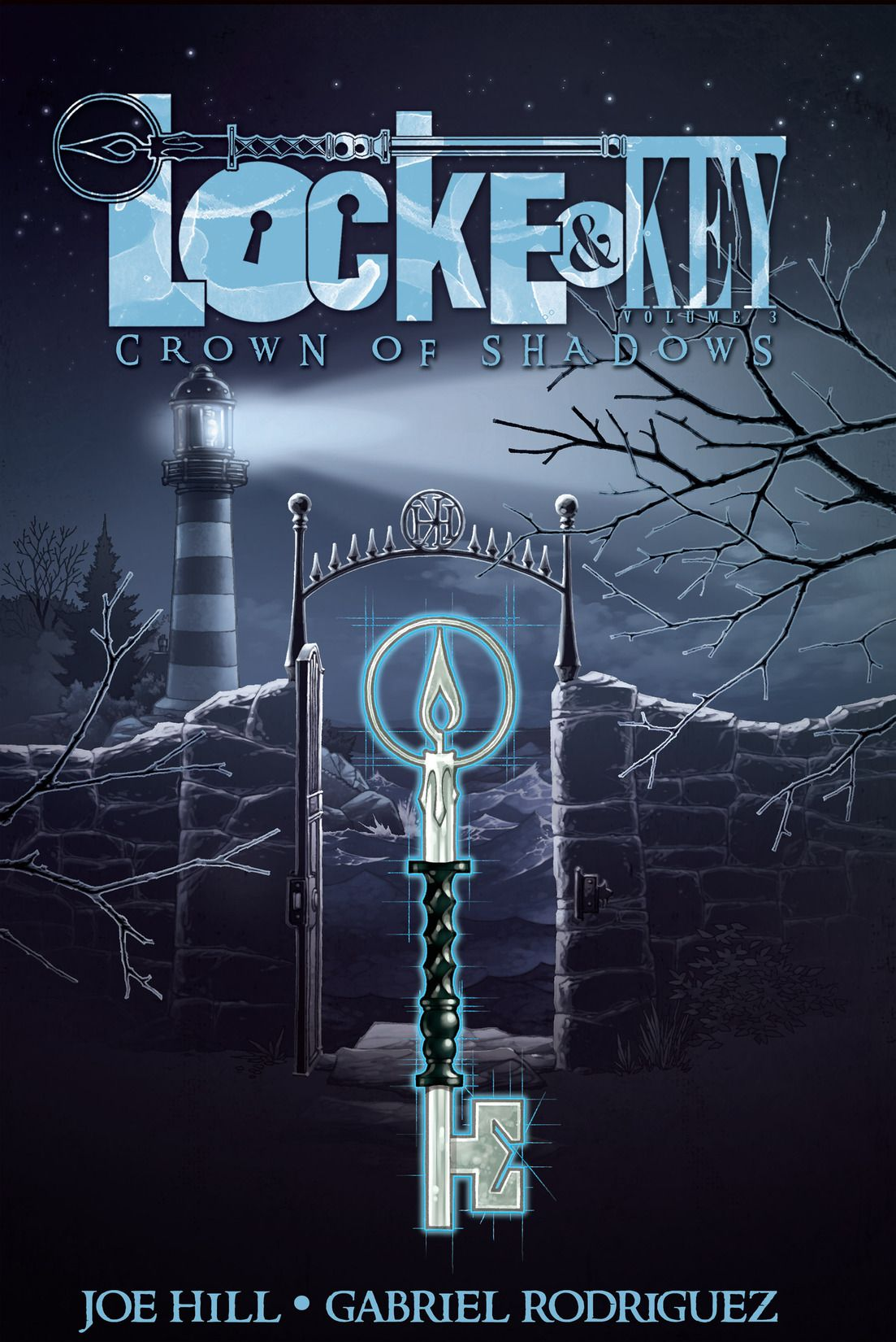 locke&key vol 3: crown of shadows is written by Joe Hill, and the art is by Gabriel Rodriguez