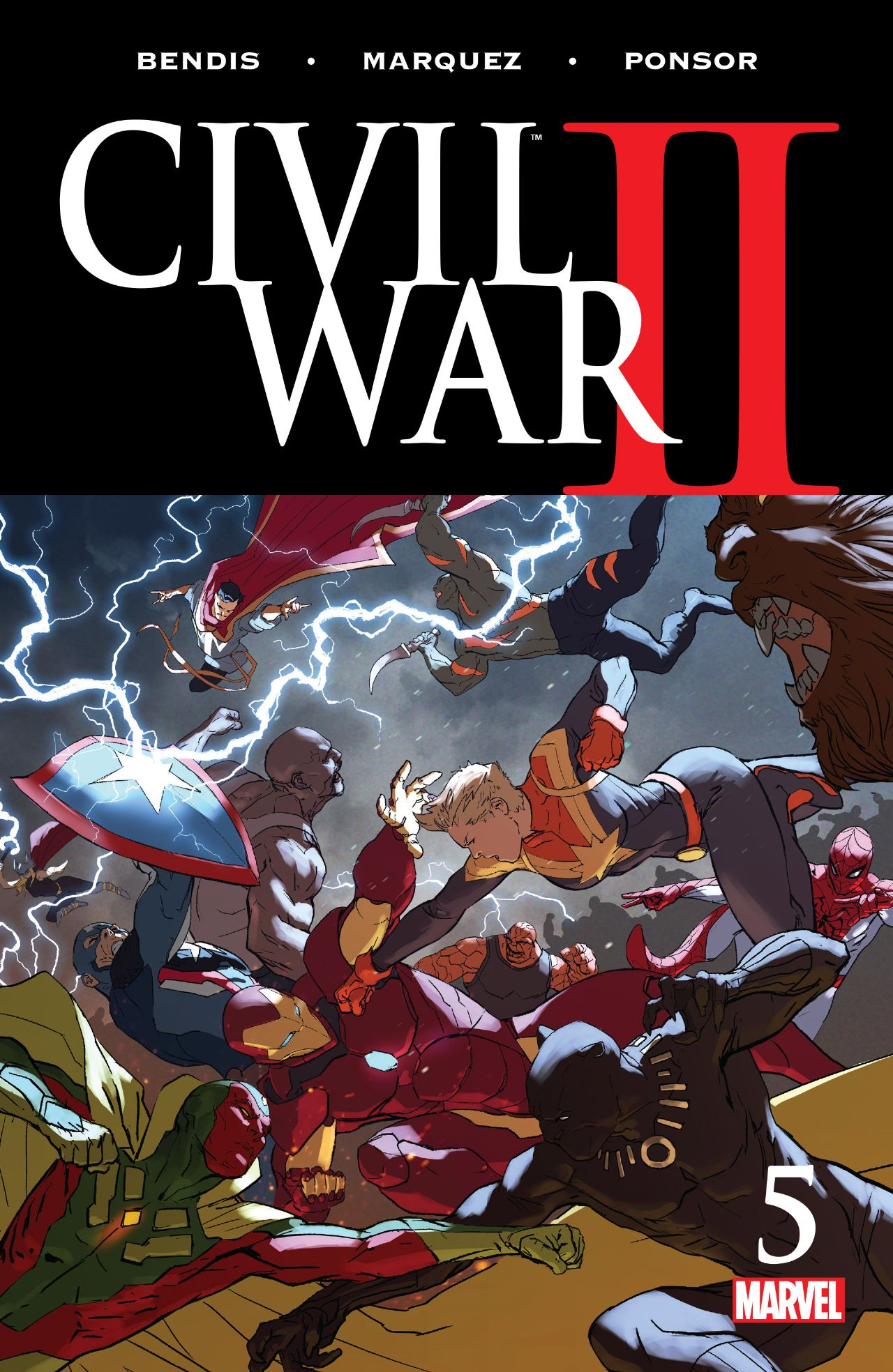 Half way through the event, marvel heroes collide in Civil War #5