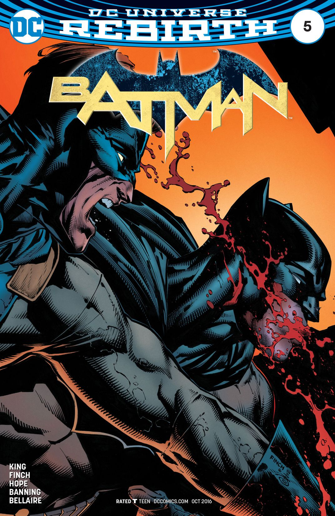 "Batman REBIRTH #5 from 2016, final chapter of ""I am gotham"""